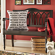 black accent bench