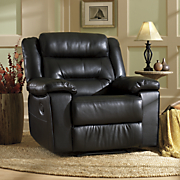 breathable faux leather recliner