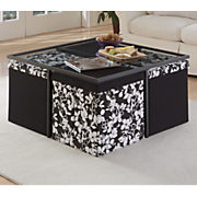 coffee table with nested seating