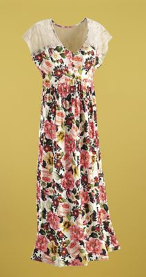 Tuscan Garden Floral Lace Dress