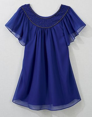 Starlight Beaded Yoke Top