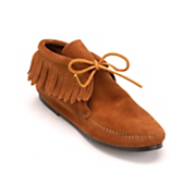 classic fringe boot by minnetonka
