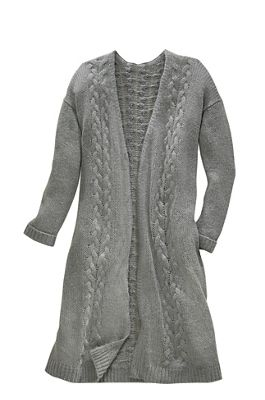 Natasha Cable Knit Oversized Cardigan