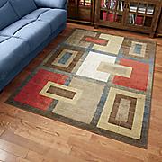modern patchwork rug