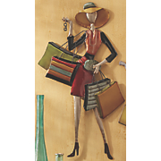 sassy shopping diva metal wall art