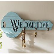 Welcome Home Blue 3-Hook Rack