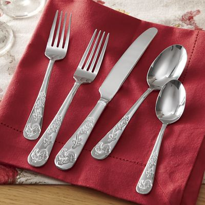 20-Piece Novelty Rooster Meadow Flatware Set by Pfaltzgraff<sup class='mark'> &reg;</sup>