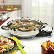 2 5 quart aroma stainless steel electric skillet