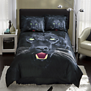 Savage Panther Comforter Set and Shower Curtain