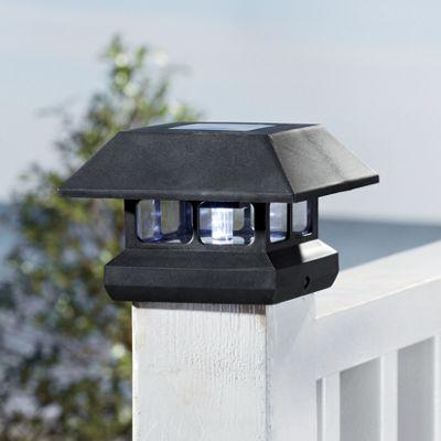 Set of 2 Solar Deck Post Cap Lights