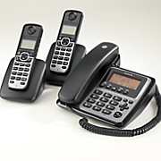 Large Display Corded/Cordless 3 Phone System by Motorola