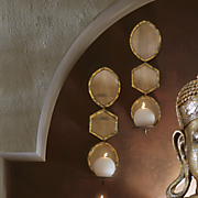 Set of 2 Indira Mirrored Wall Sconce