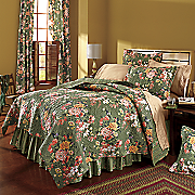 Erin Grace Quilt, Bedskirt, Sham and Window Treatments