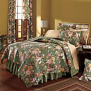 erin grace quilt  bedskirt  sham and window treatments