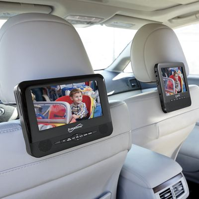 """7"""" Dual Screen Portable DVD Player by Supersonic"""