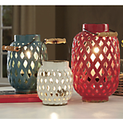 3 piece bailey lattice lanterns set