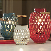 3-Piece Bailey Lattice Lanterns Set