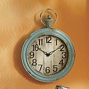 cassini blue distressed wall clock