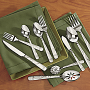 45 piece jubilee stainless steel flatware