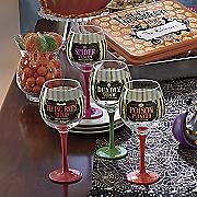 4 piece halloween goblets set