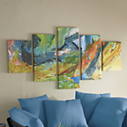 Coastal Daydreams Abstract Canvas Art