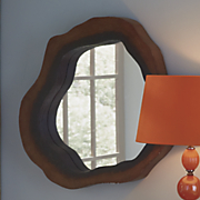 hollow tree slice wall mirror