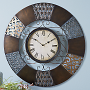 Sacramento Scroll Metal Wall Clock