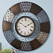 sacramento scroll metal wall clock