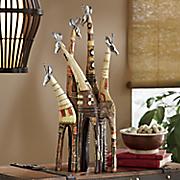 painted giraffe family