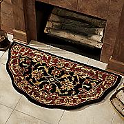 handmade scalloped hearth rug