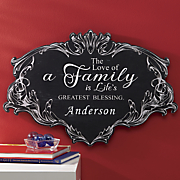 personalized family wall plaque