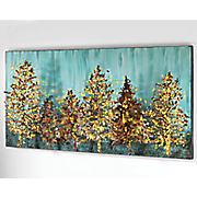 Dimensional Forest Metal Art