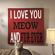 Meow and Fur-Ever Canvas Art