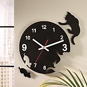 kitty cat chase clock