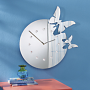 butterfly fly away clock