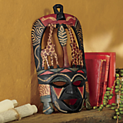 kenyan hand carved mask