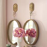 golden wall mirror