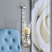 distressed metal wall sconce