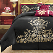 7-Piece Embroidered Shanghai Bed Set and Window Treatments