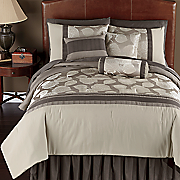 Linden Grove Pintucked 7-Piece Bed Set and Window Treatments