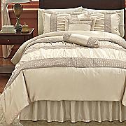 indulgent bedding  decorative pillows  sham and window treatments