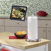 gooseneck ipad stand paper towel holder