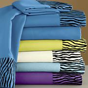 zebra flocked sheet set
