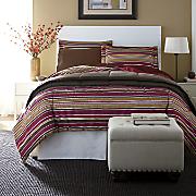 Striped Down Alternative Comforter Set