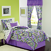 Zelda Complete Bed Set, Decorative Pillow and Window Treatments