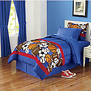 Sporty Complete Bed Set and Window Treatments