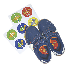 left right shoe labels