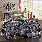 Black Floral Quilt