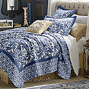 Navy Quilt and Sham