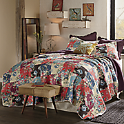 Jewel Printed Patch Quilt and Sham